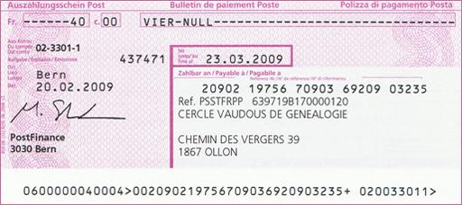 information sur centre cheque postal